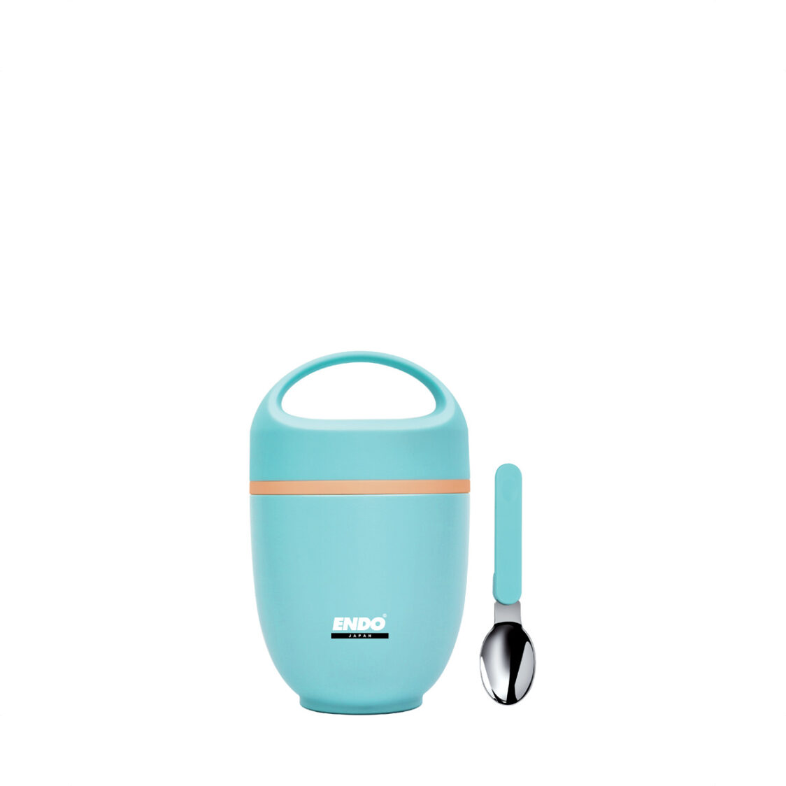 Endo 650ml Double Stainless Steel Food Jar - Light Blue CX-4008