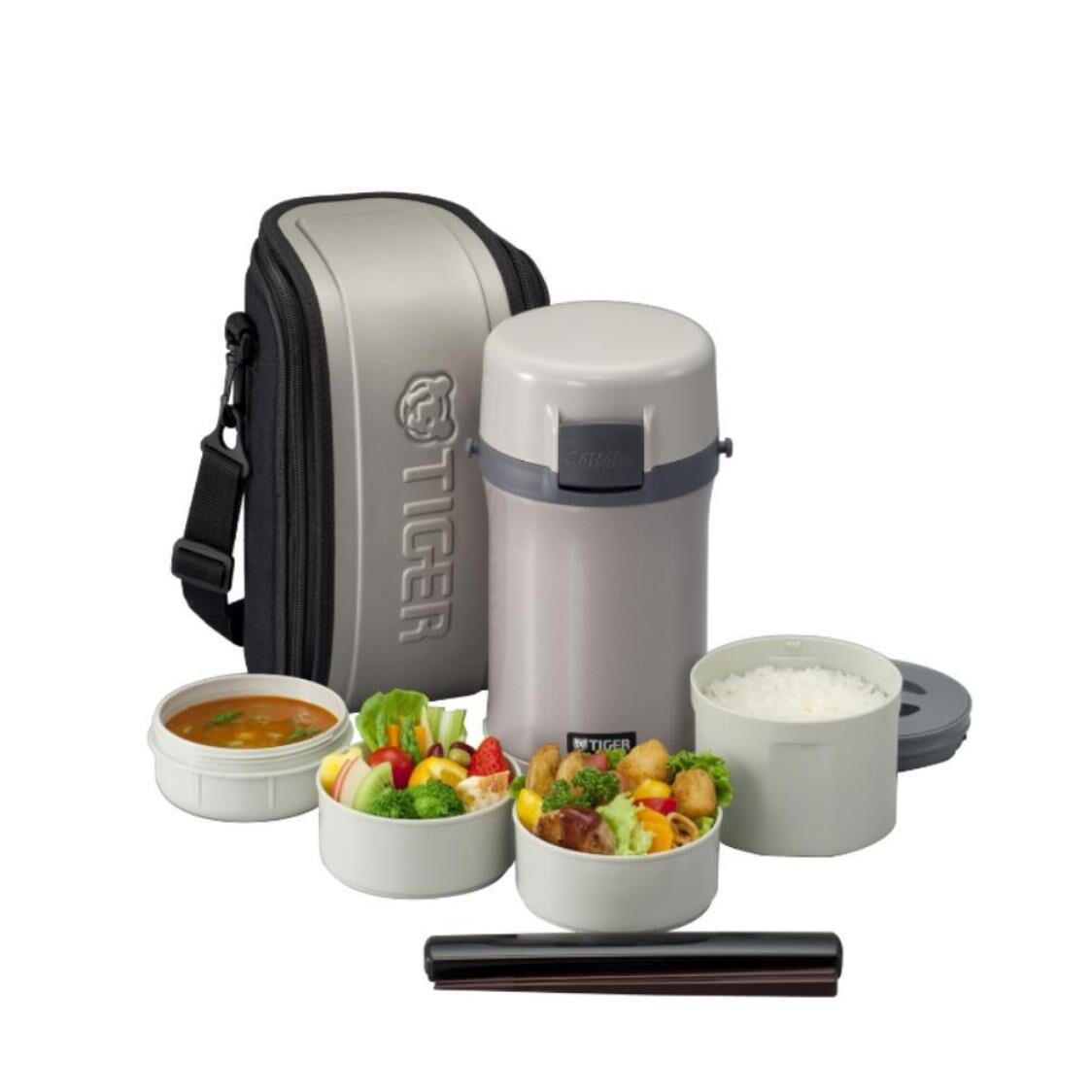 Tiger Lunch Box with Bag LWU-F200 2L