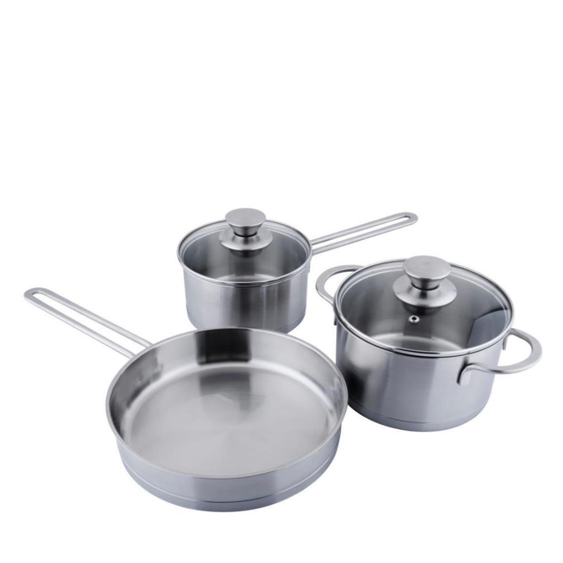 1810 Pure Stainless Steel Cookware 5pc Set