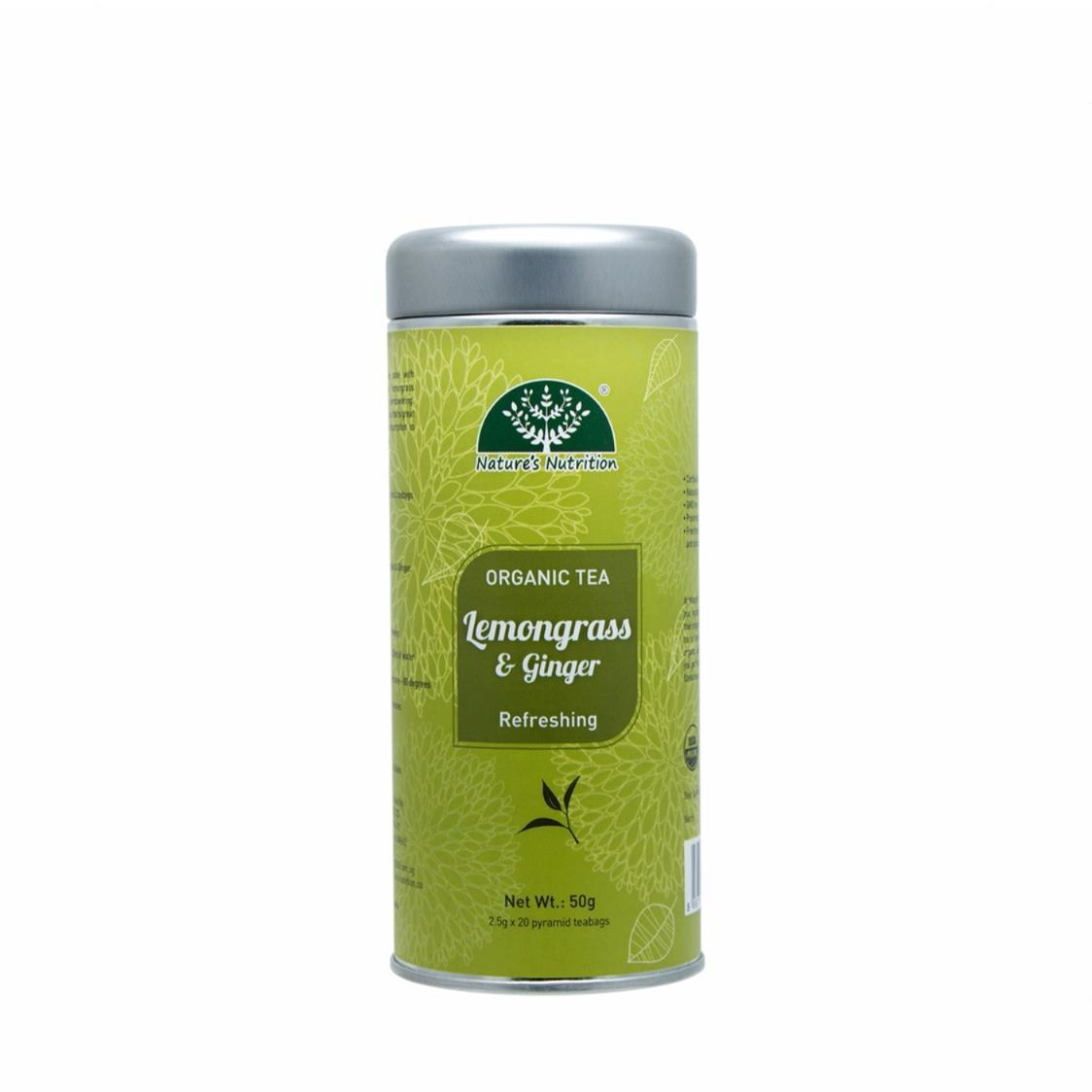 Organic Lemongrass Ginger Tea Cannister