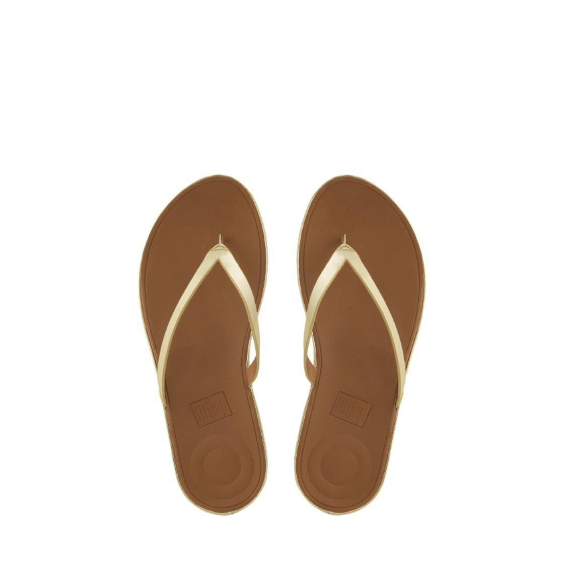 Linny Mirror Toe-Thong Sandals Gold