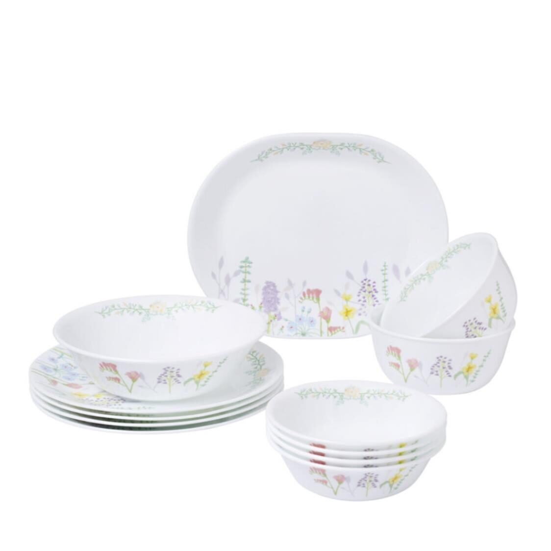 Corelle 12pc Dinner Set Blooms