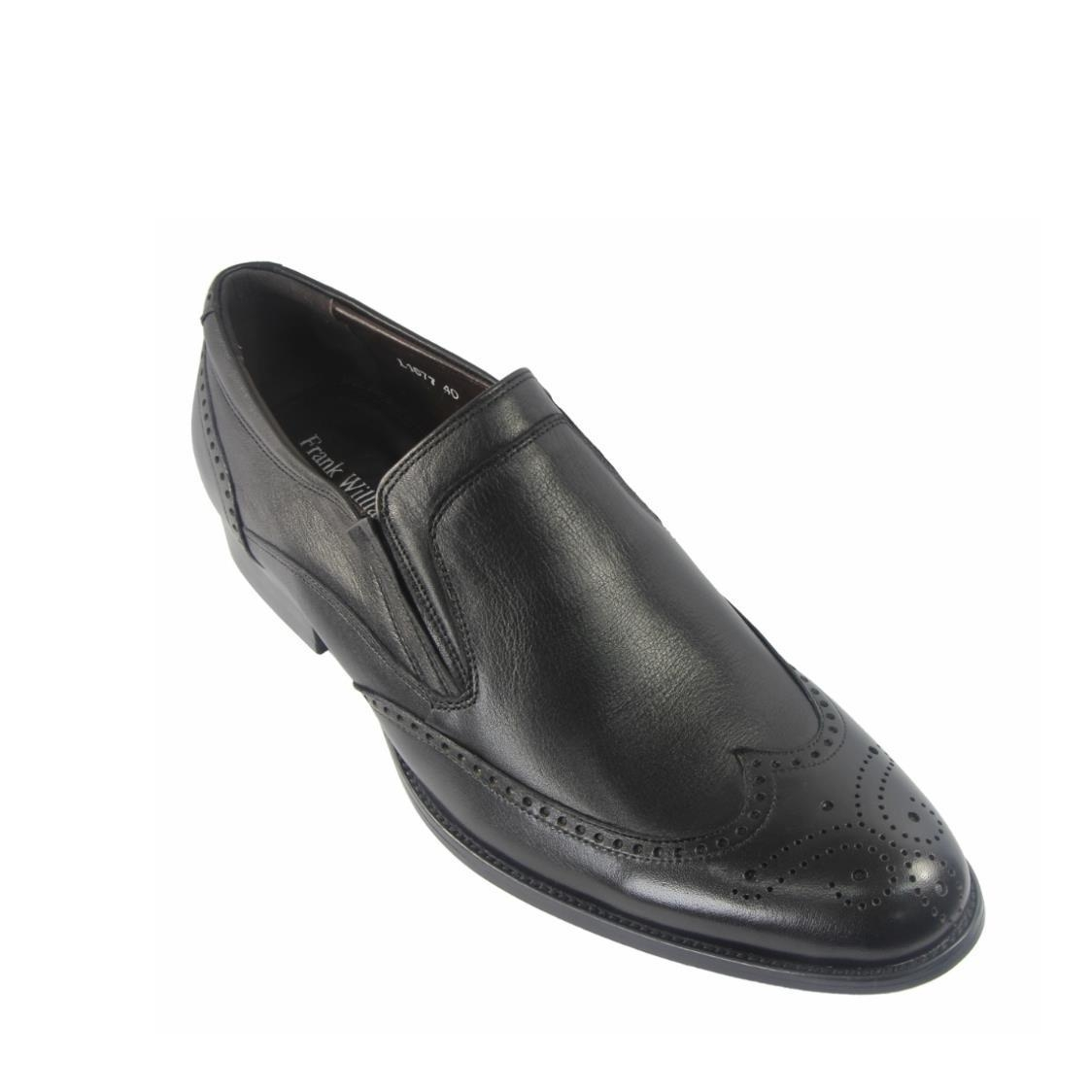 Men Wingtip Slip-Ons in Black