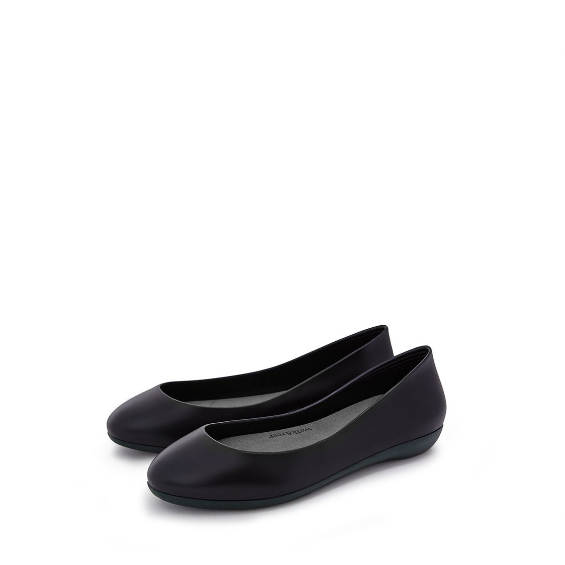 F2 Flat-Rounded Heel height 2cm Solid Black
