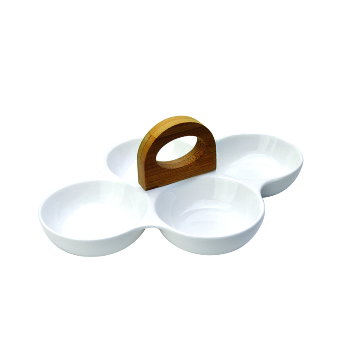 Quadro 4-Section Snack Bowl With Loop Handle SR-64