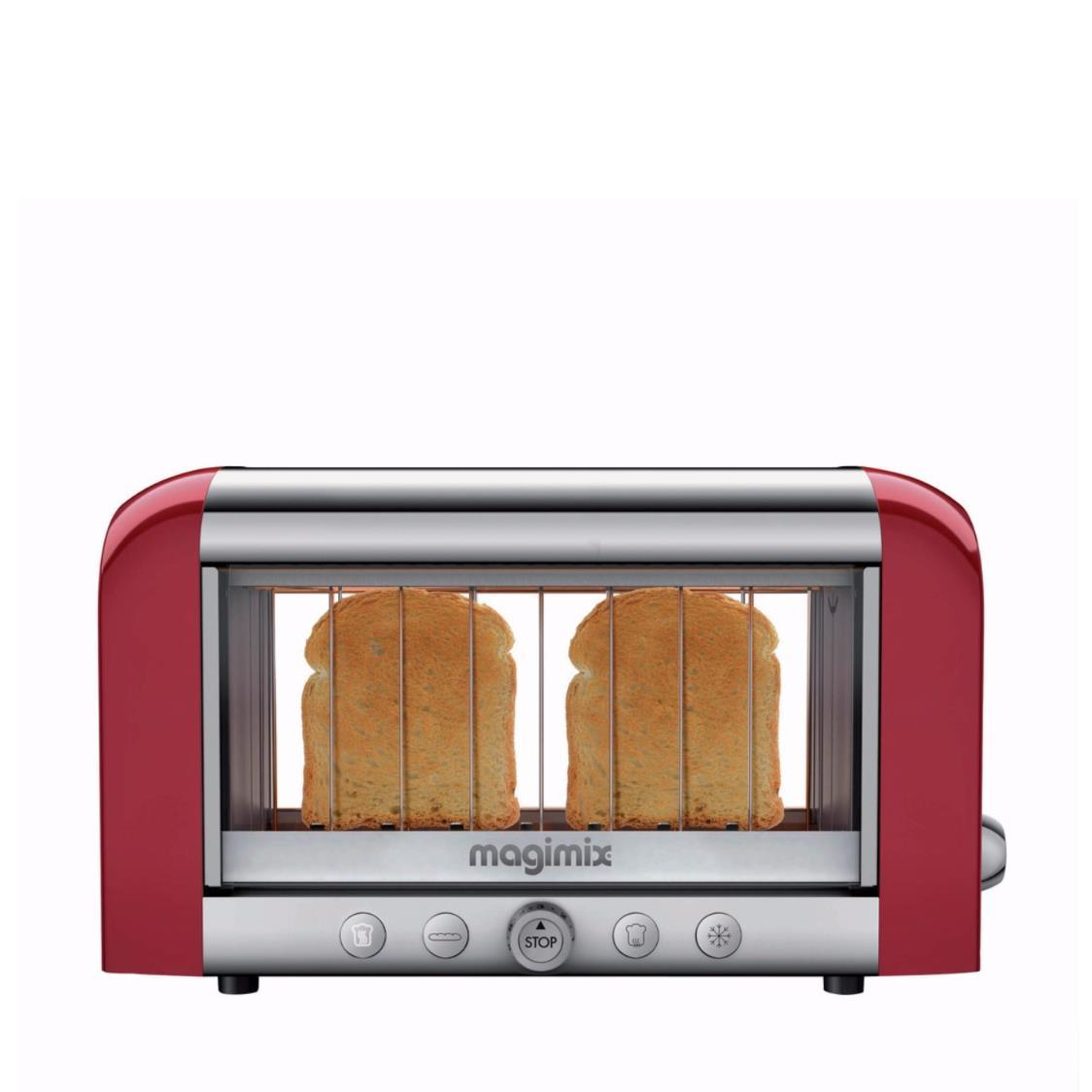 Toaster Red  Chrome