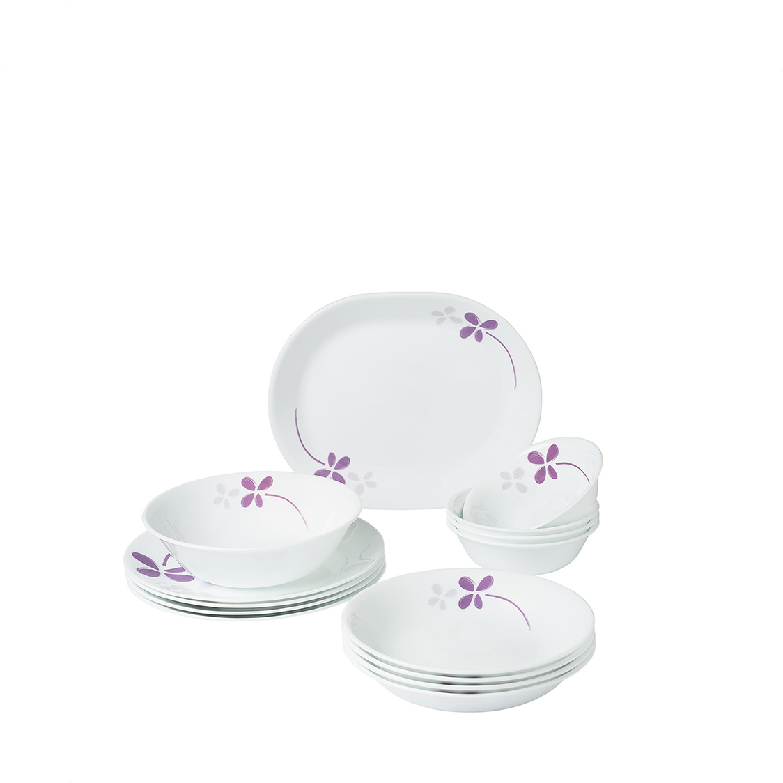 14pc Dinner Set Warm Pansies
