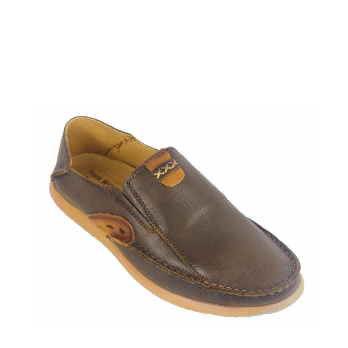 Men Casual Slip-Ons in Dark Brown