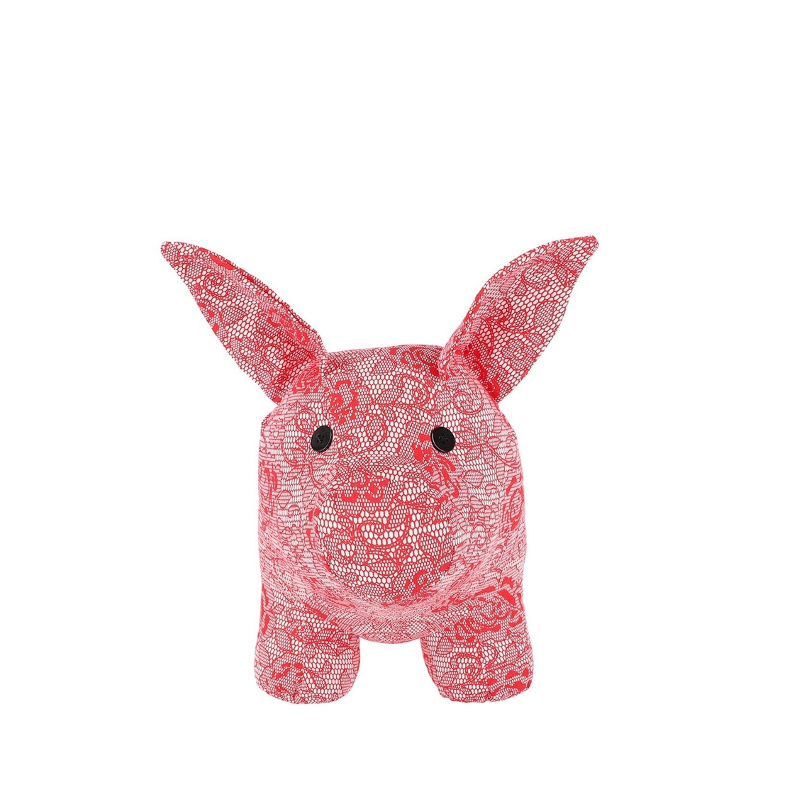 Large Mascot Pig Decoration in Red Lace