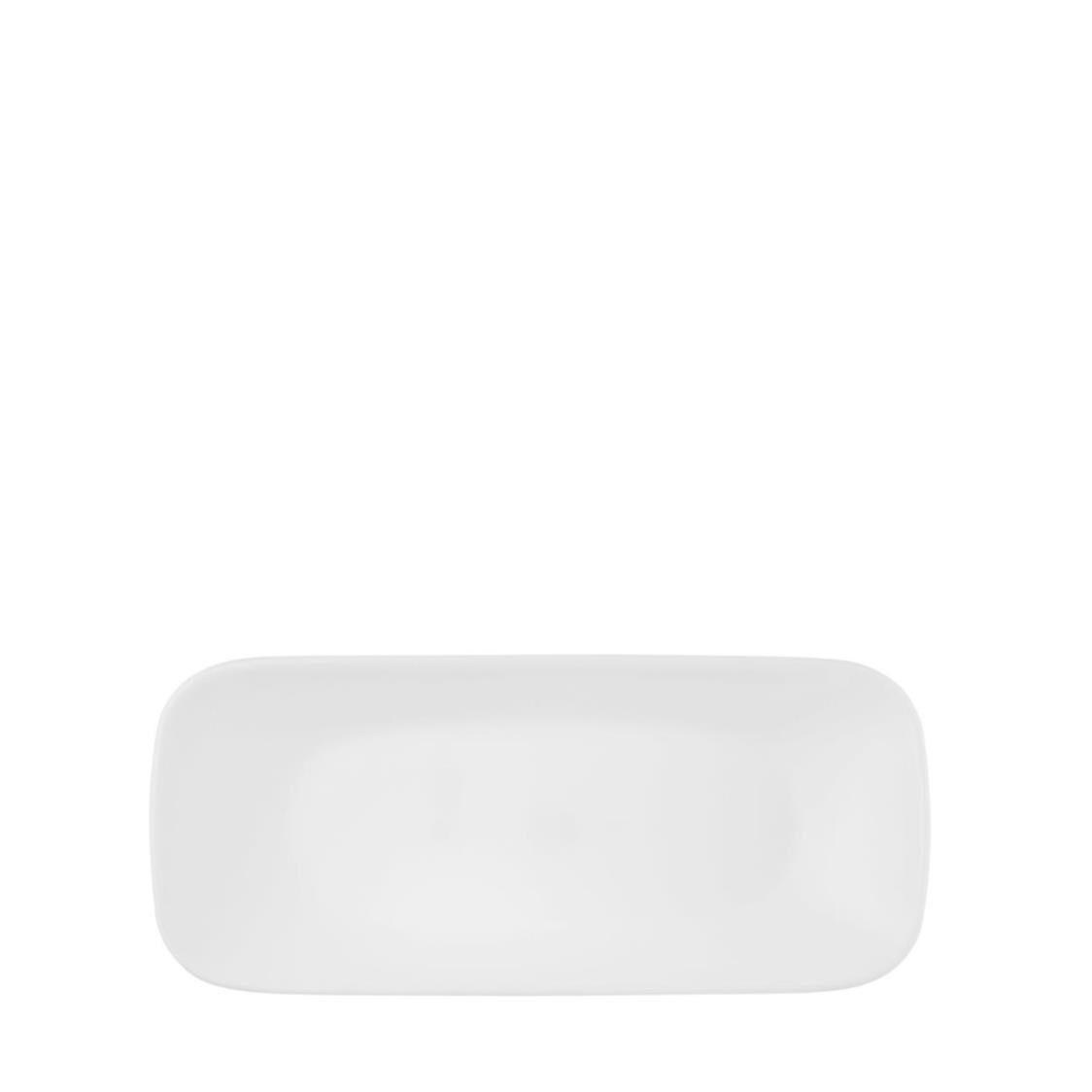 Square Round Fish Plate Winter Frost White