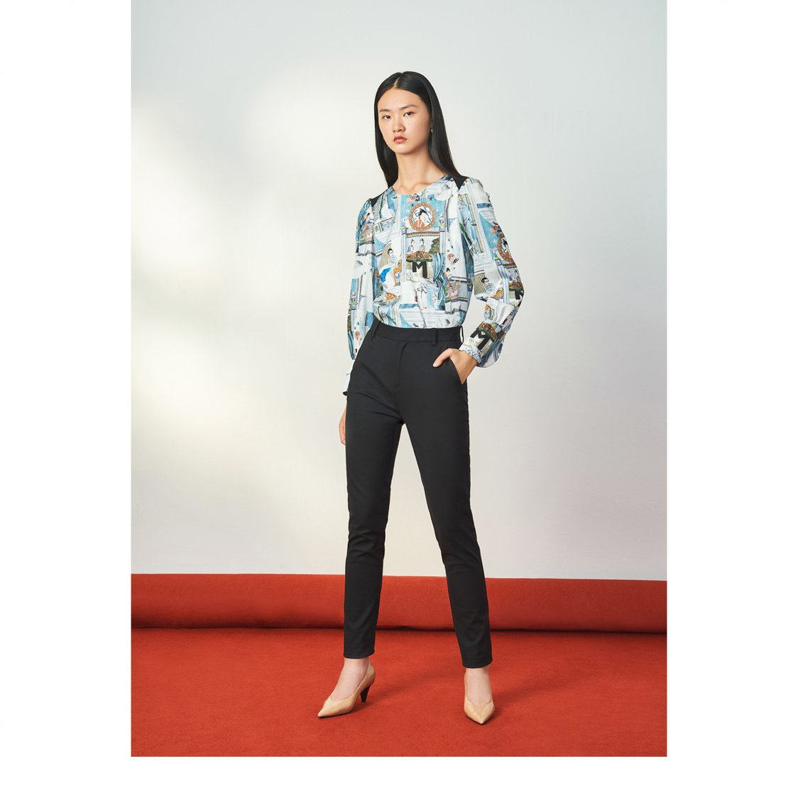 Lily Skinny Trousers Black