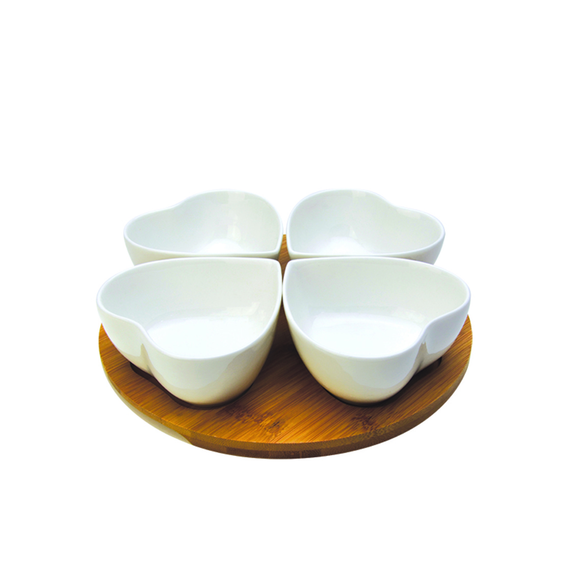 Passion 4 Condiment Bowls On Bamboo Base SR-51