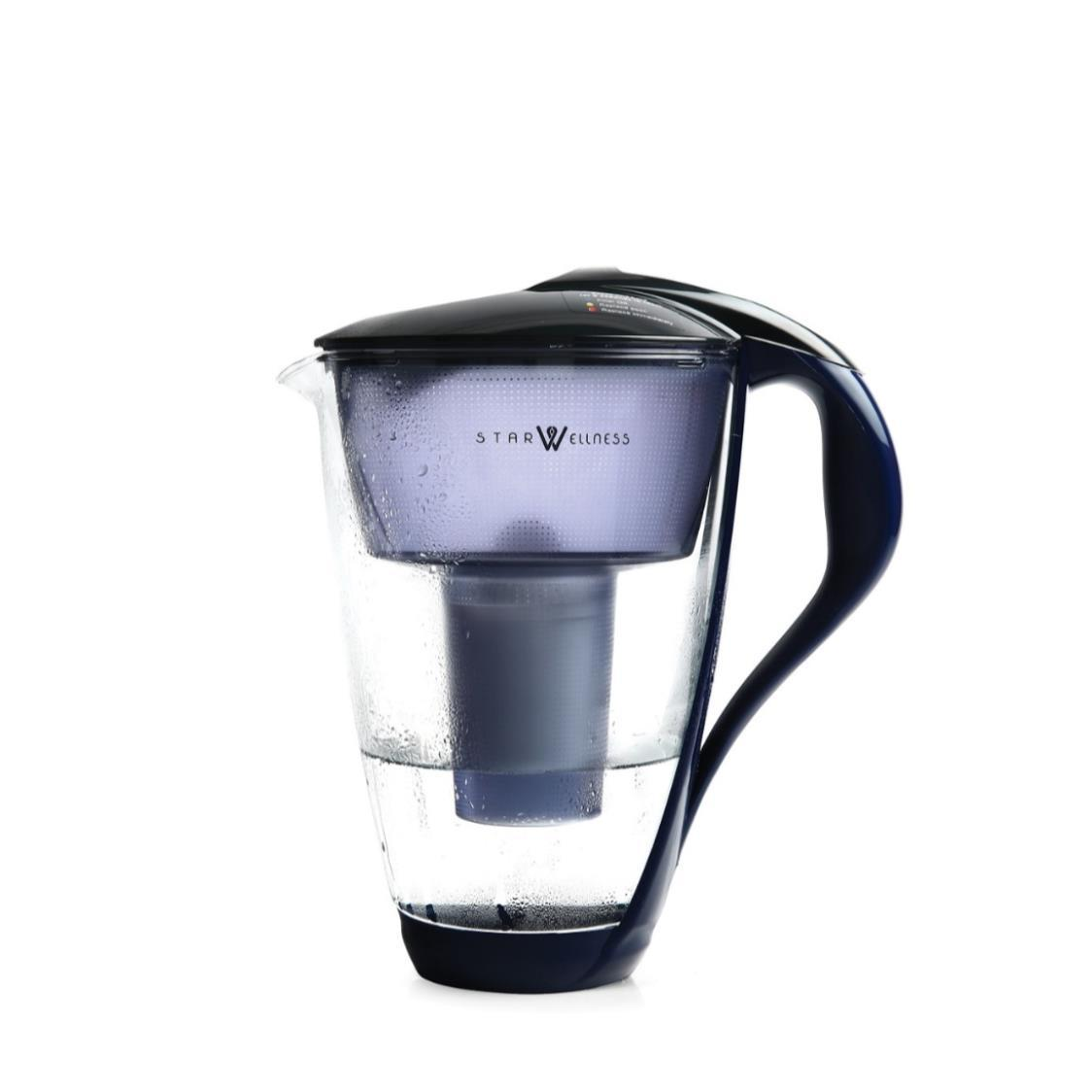 Crystal Glass Water Pitcher Blue