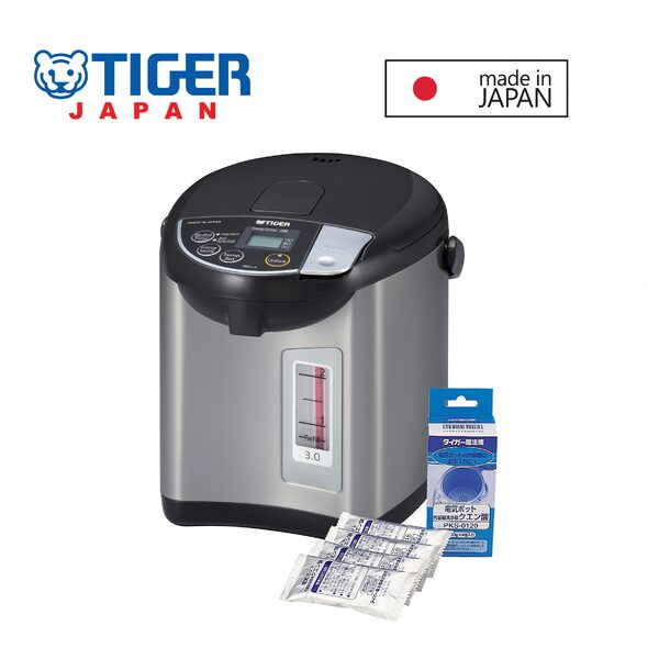 Tiger 3L Electric Airpot with Dispense Lever Made in Japan Free Citric Acid Airpot Cleaner Worth 8