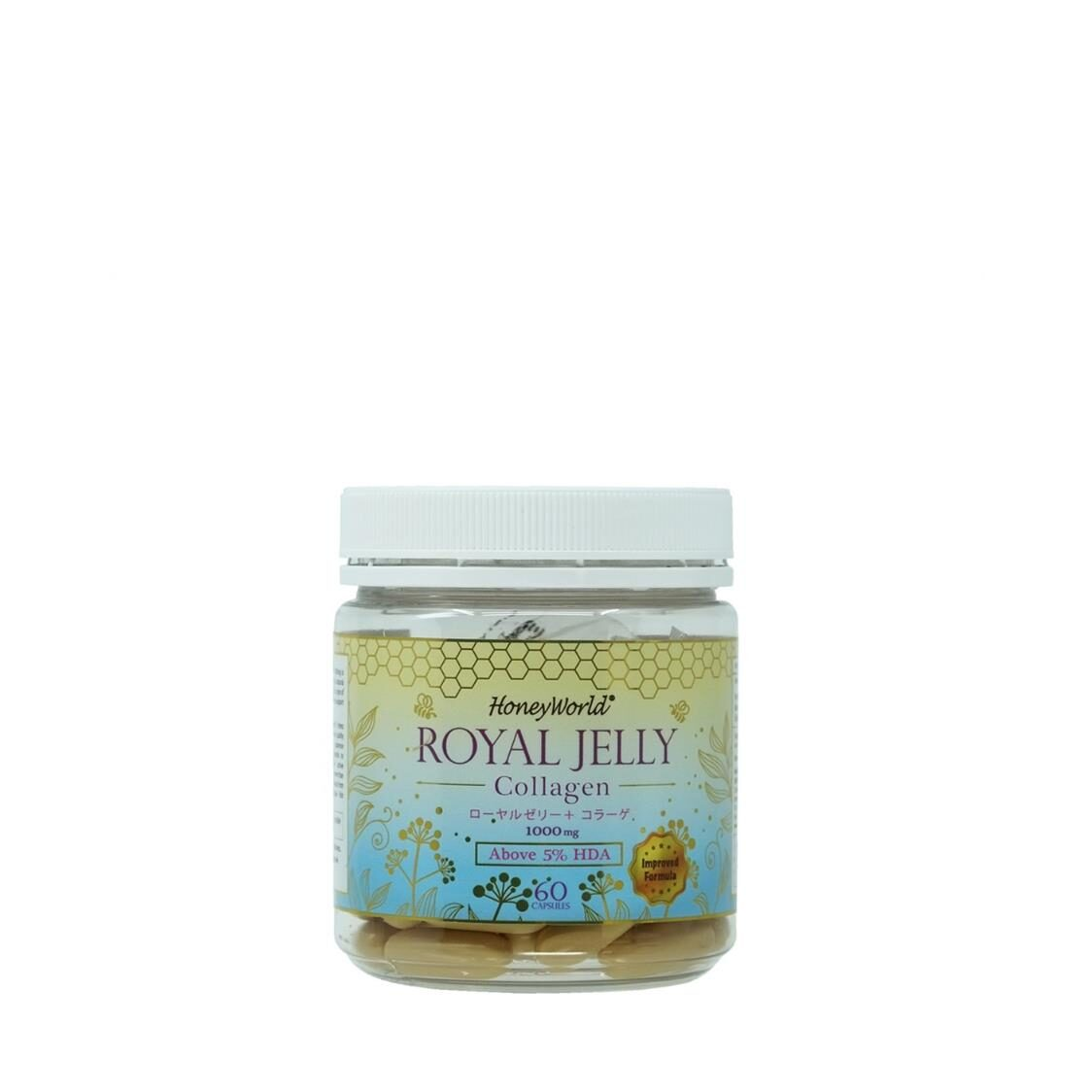 Honey World Japanese Royal Jelly  Collagens Capsules 60S