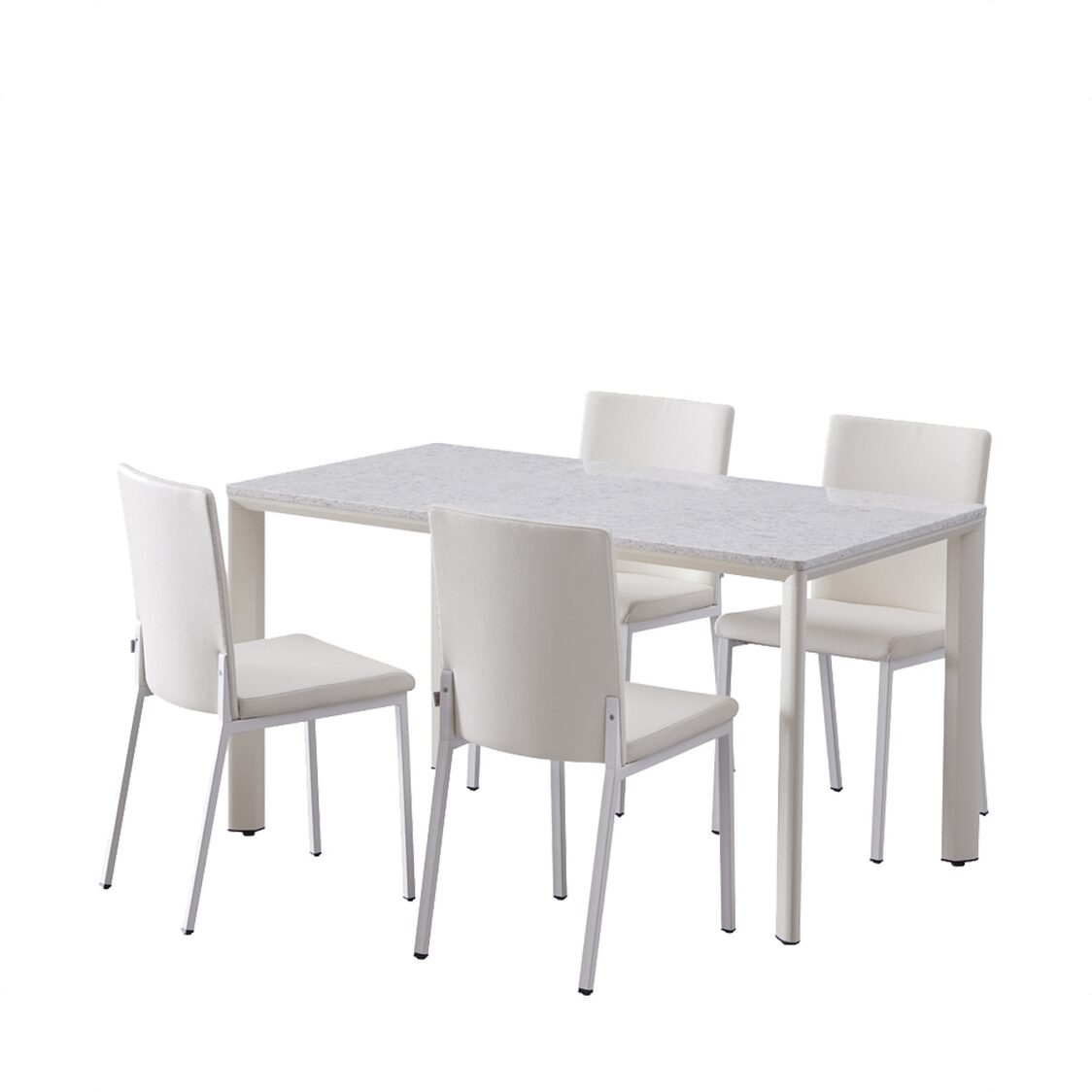 DELIC Dining Table for 4Mock Marble HT11T4EEN-IPIIV