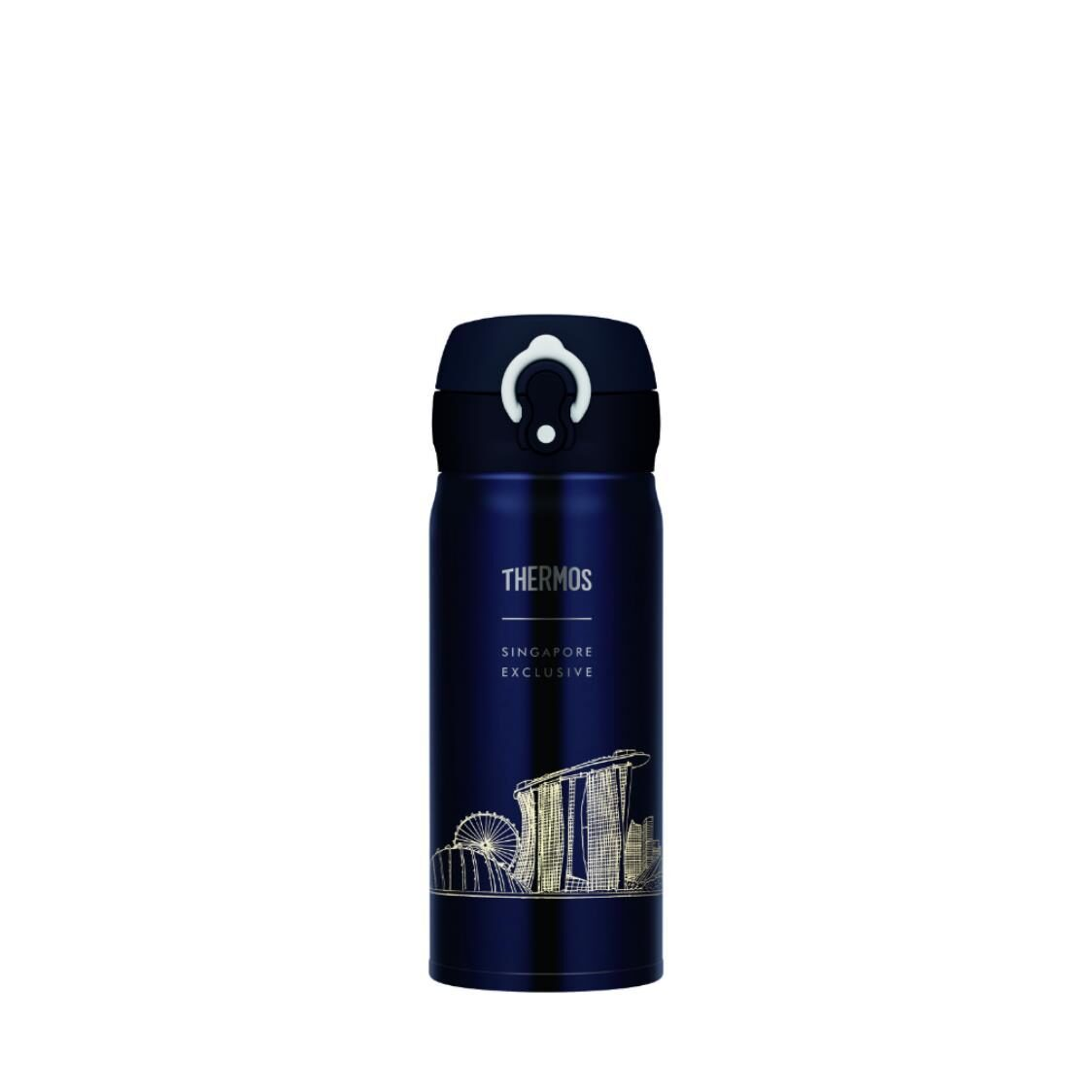 Singapore Exclusive Local Design One Push Tumbler Navy 04L
