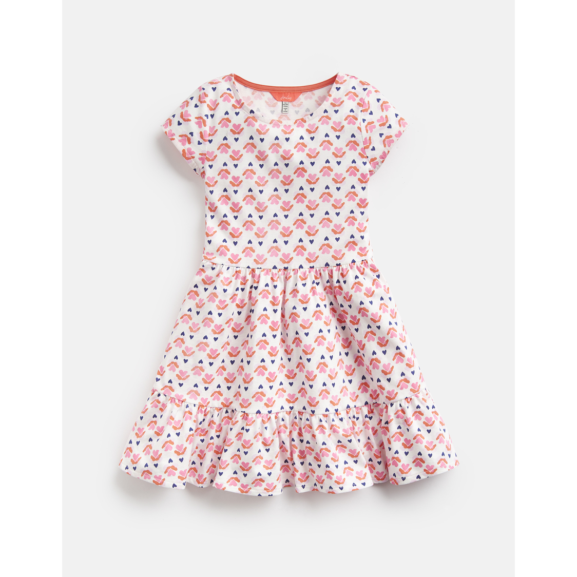 Coco Peplum Dress 3-12 Yr Cream Heart Geo