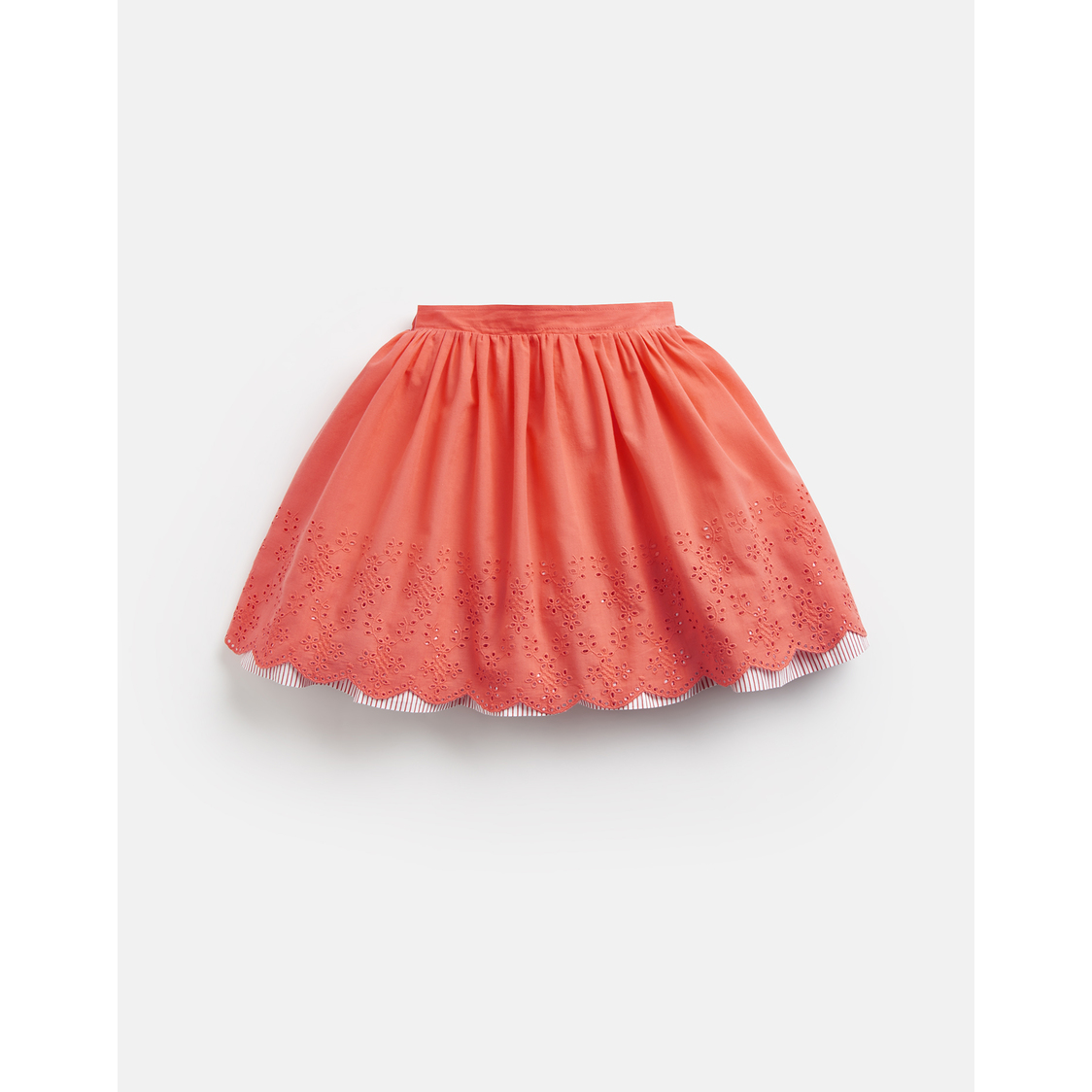 Myla Broderie Woven Skirt 3-12 Yr Bright Coral