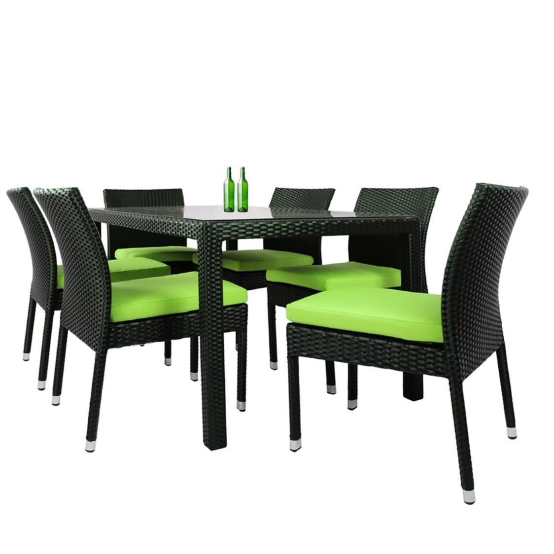 casa 6 chair dining set green cushion metro department store rh metro com sg 6 chair dining set round 6 chair glass dining table set
