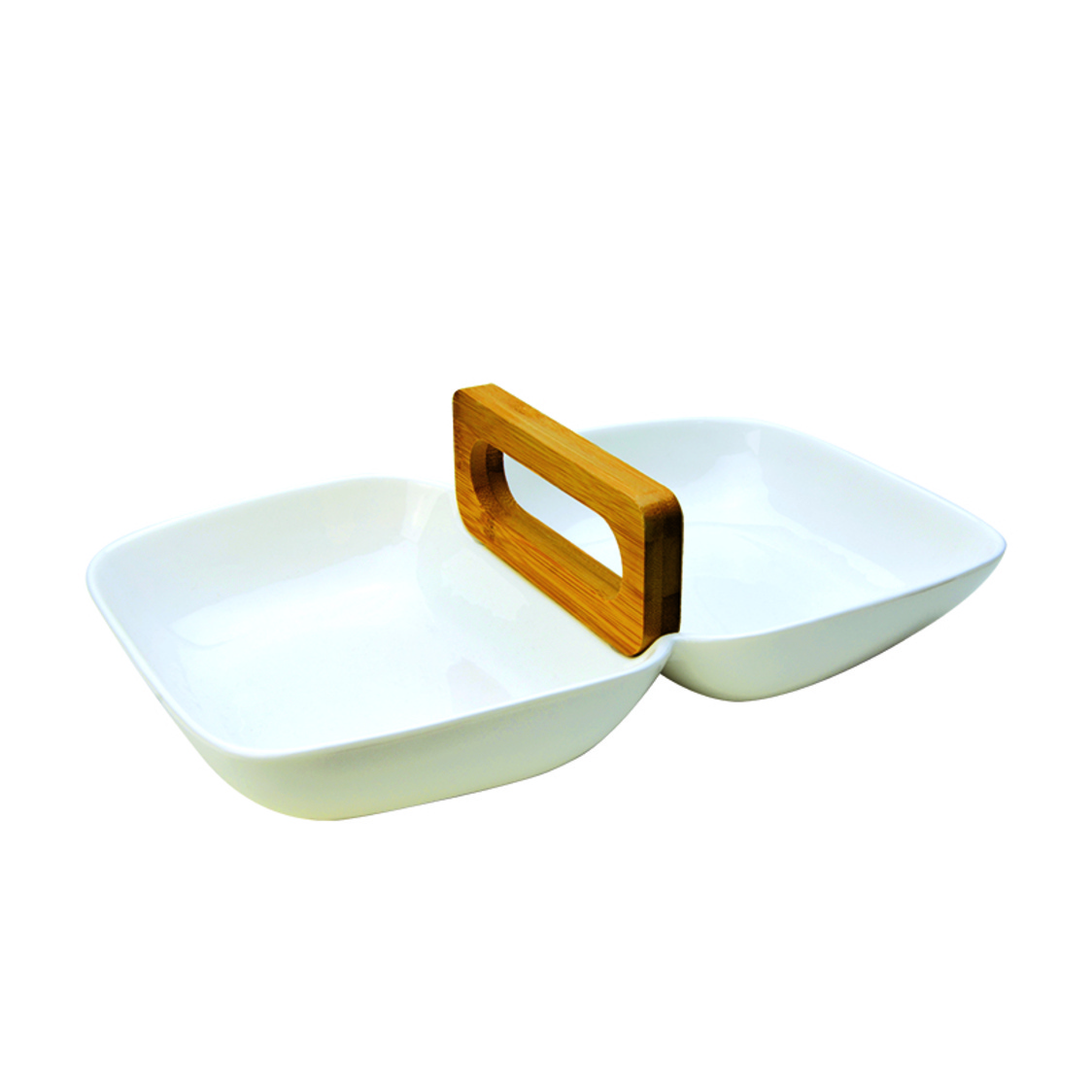Carriage 2-Section Snack Bowl With Loop Handle SR-60