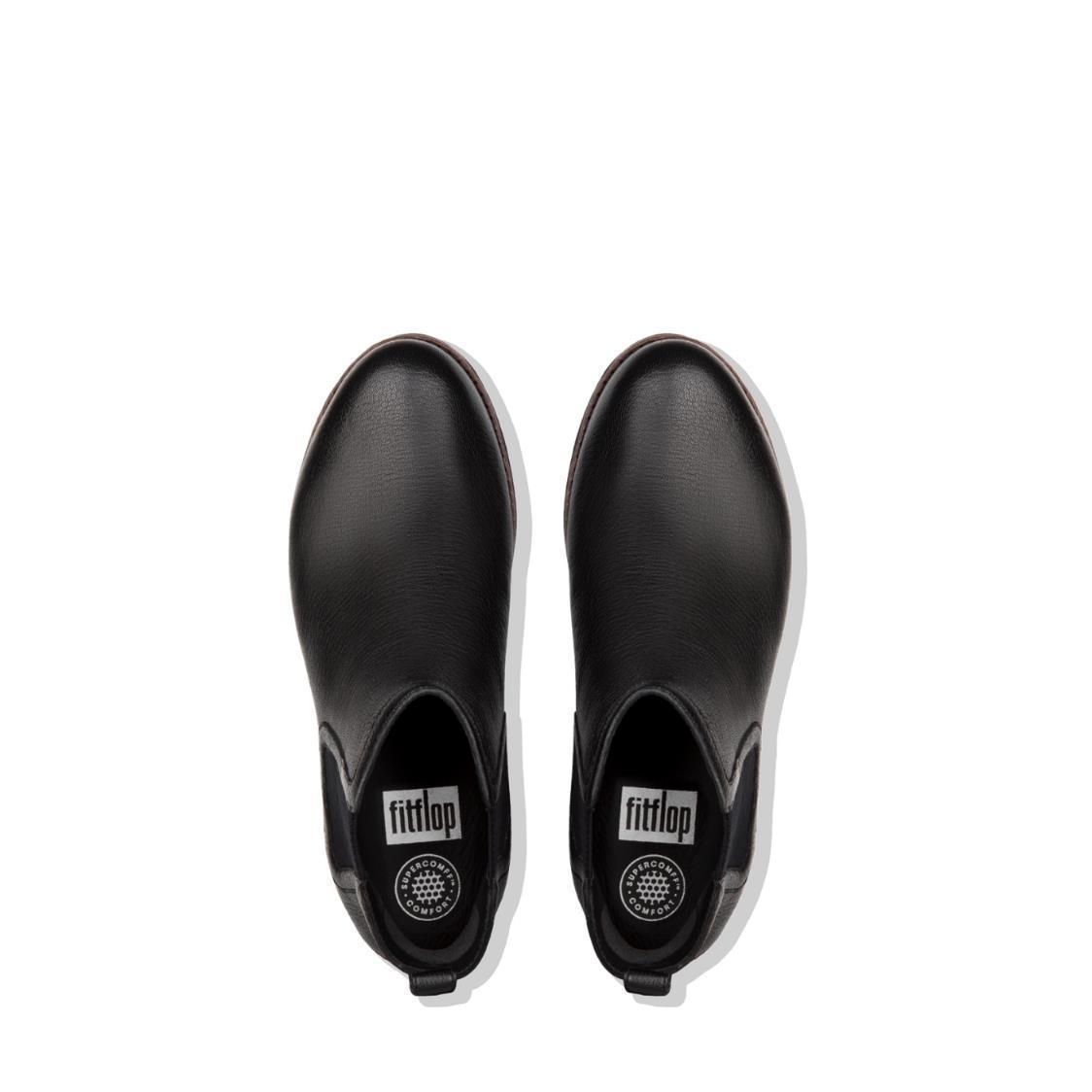 Chai Leather Chelsea Boots Black