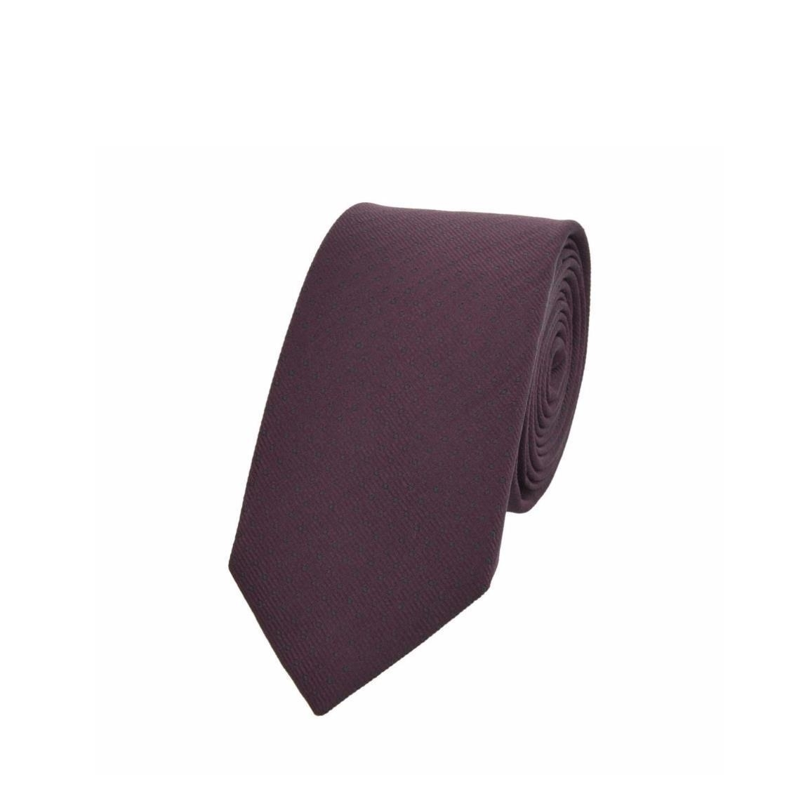 Jacquard Silk Tie In Maroon with Polka Dots