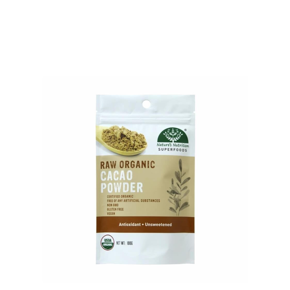 Natures Nutrition Organic Cacao Powder 100g