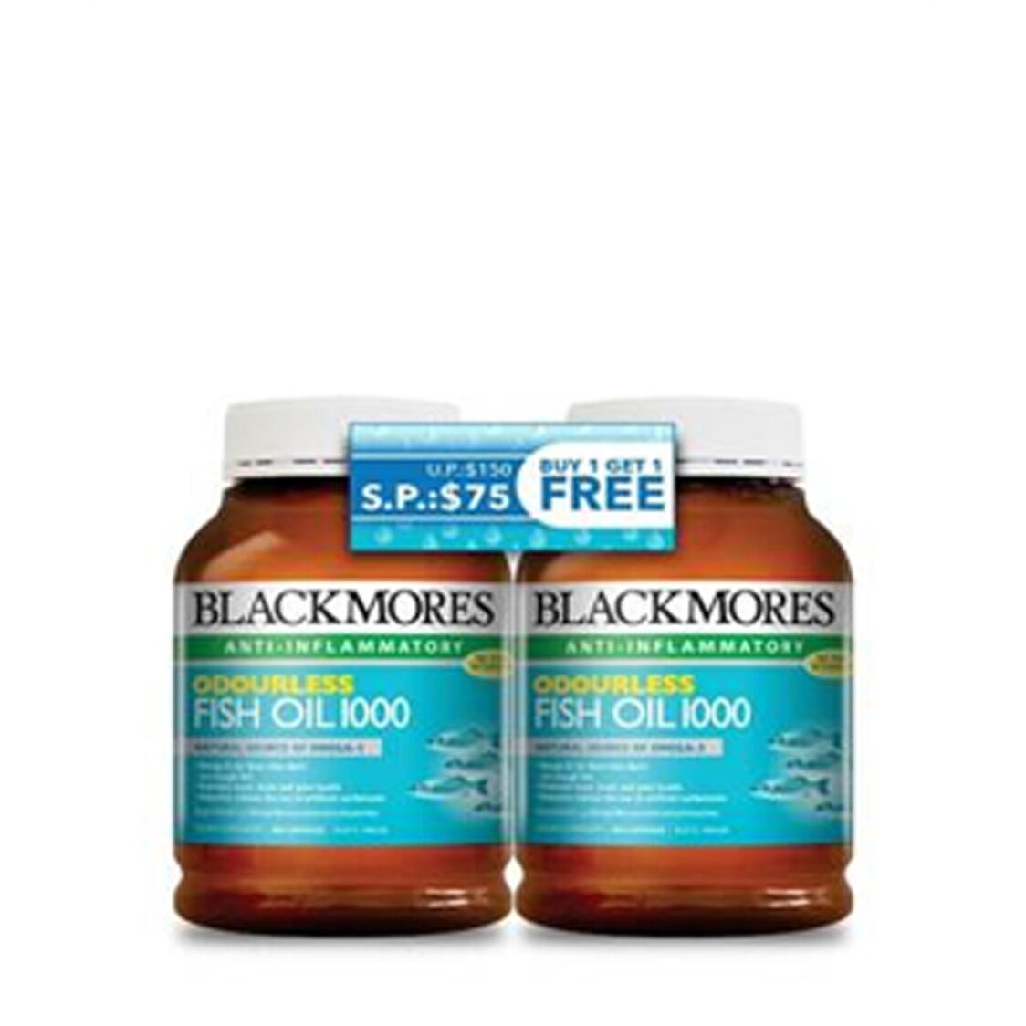 Blackmores Odourless Fish Oil 400s Bundle