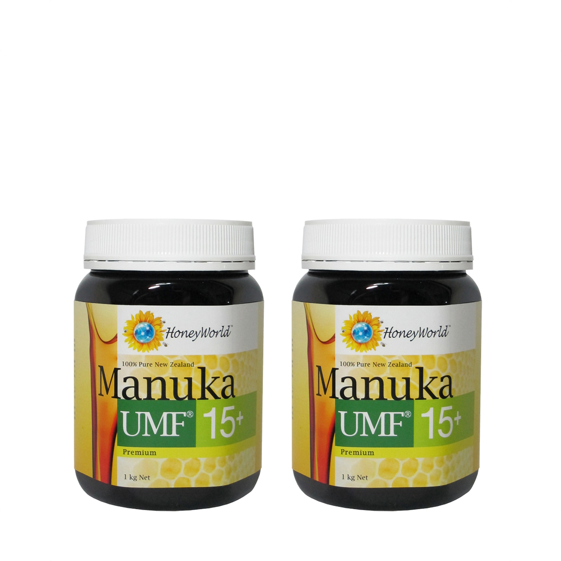 Honey World Manuka UMF15 1kg Bundle of 2