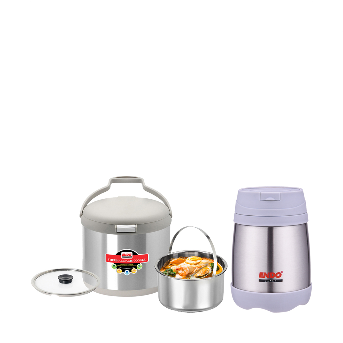 35L Thermal Magic Cooker E-TMC35  500ml Double Stainless Steel Food Jar CX-4004