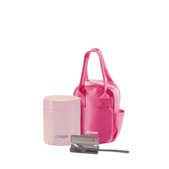 Tiger 500ml SSteel Food Jar Framboise with SSteel Spoon and Pouch MCJ-A050 PF
