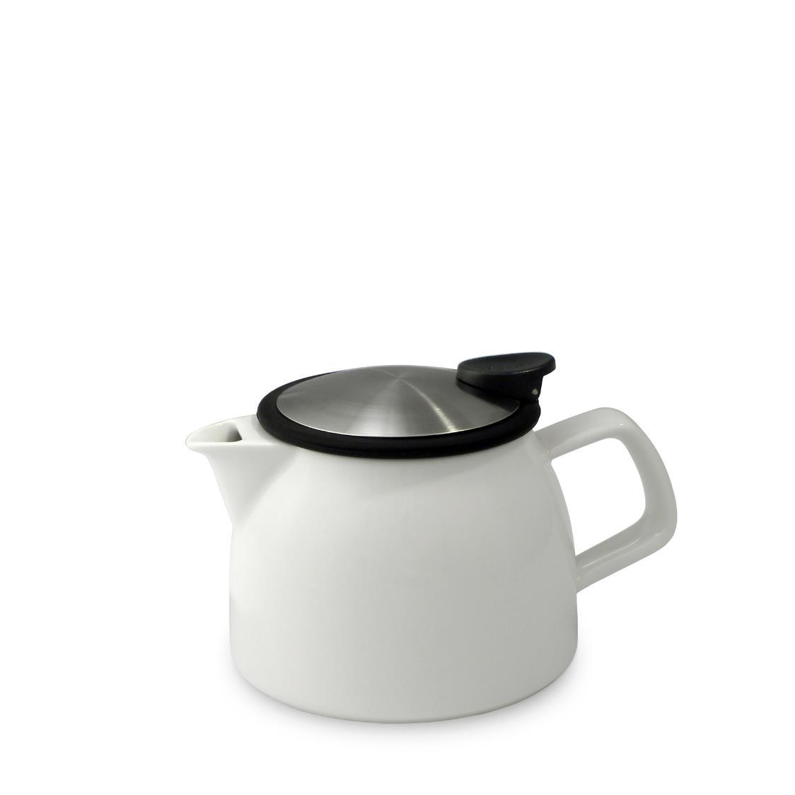 Bell Teapot with Basket Infuser 470ml FL543-WHT