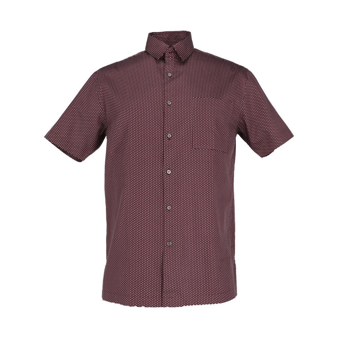 Mens Short Sleeve Printed  Slim Fit Shirt