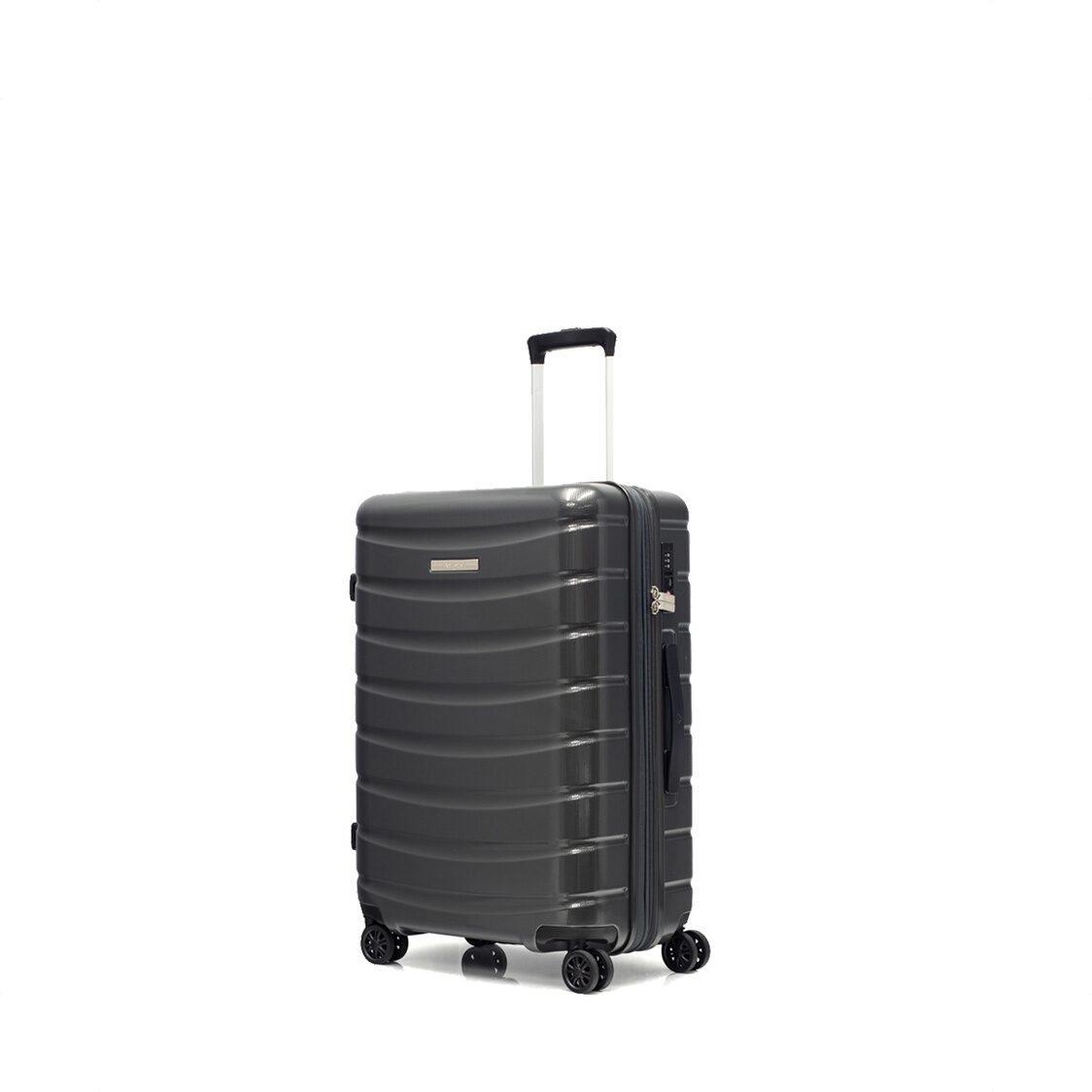 Palermo 8 Wheel Expandable Polycarbonate Hard Spinner Grey