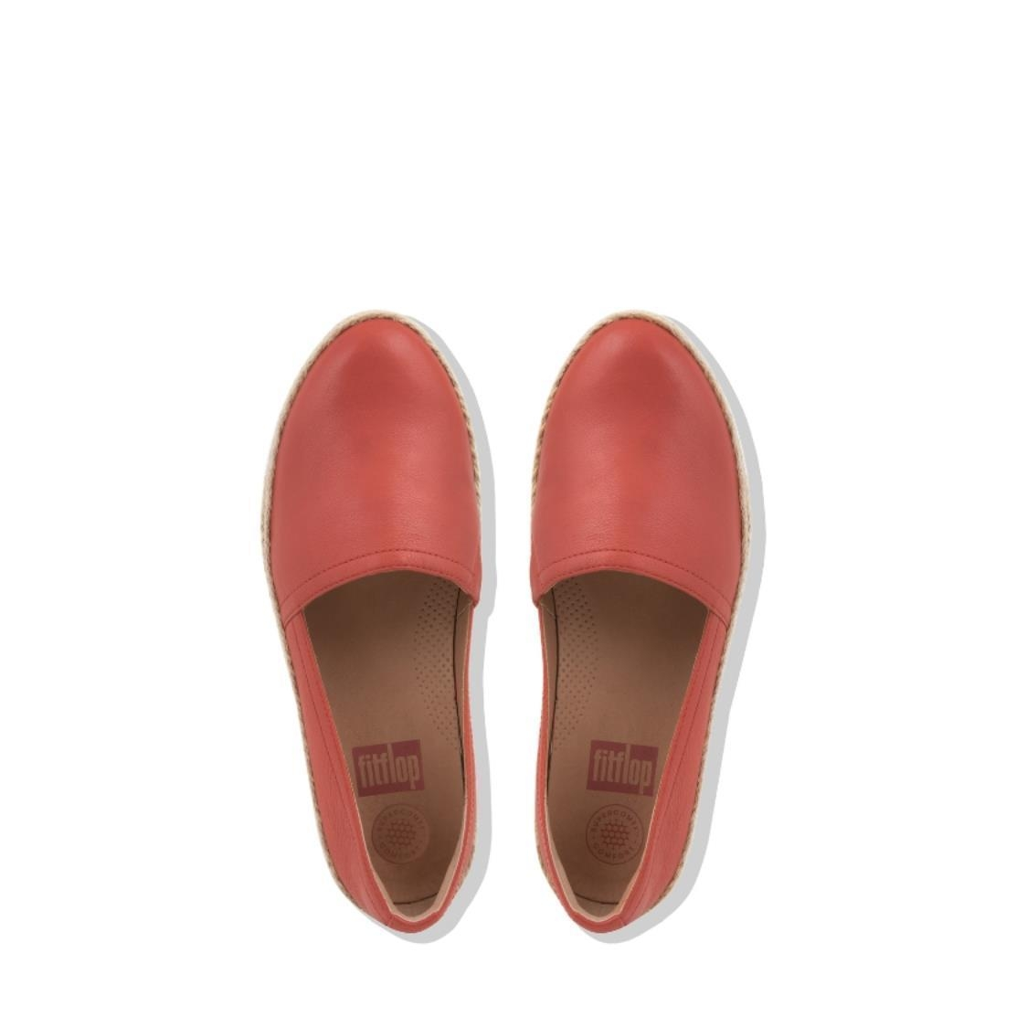 Casa Leather Loafers Sunset Red