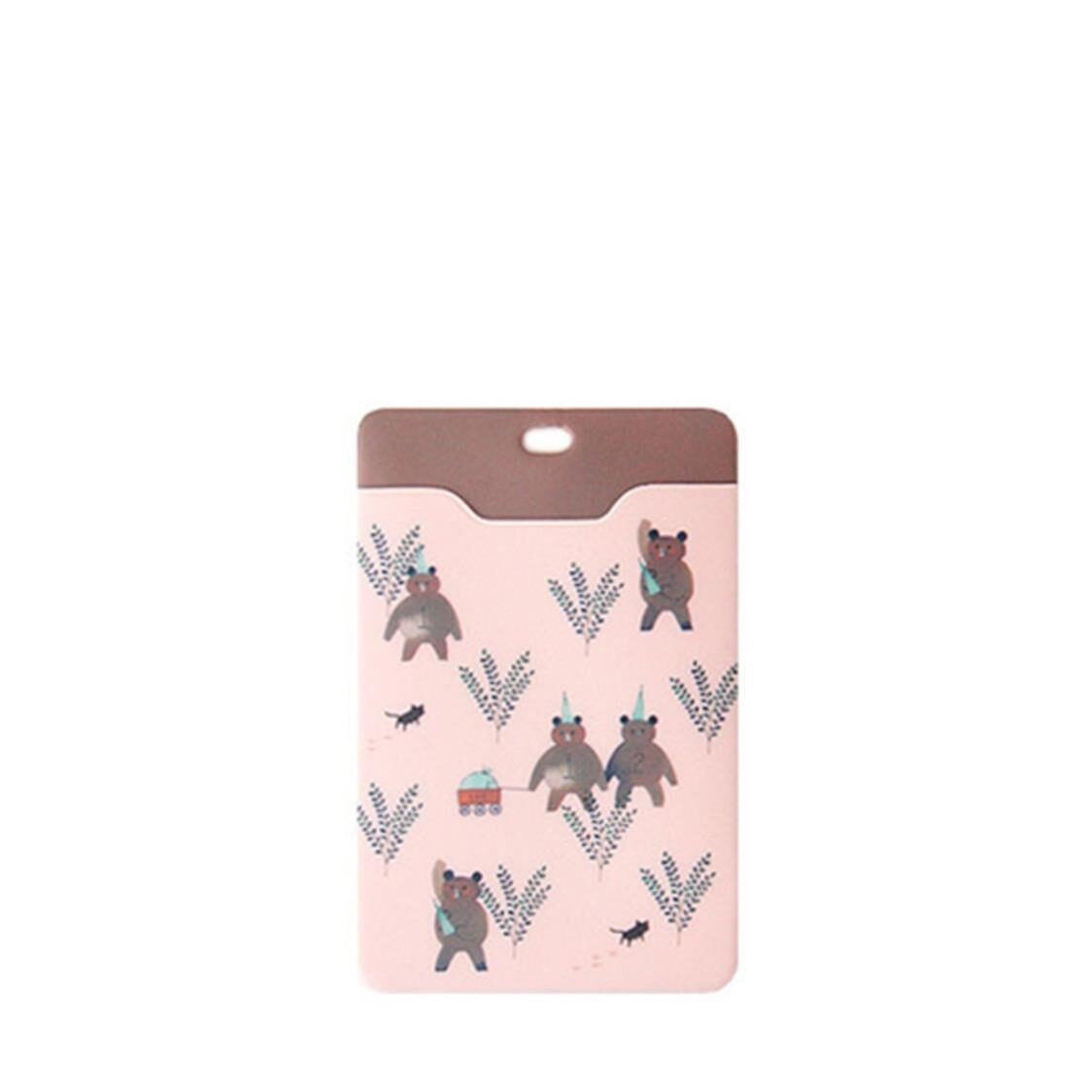 Willow Soft Cardcase Pink Bear