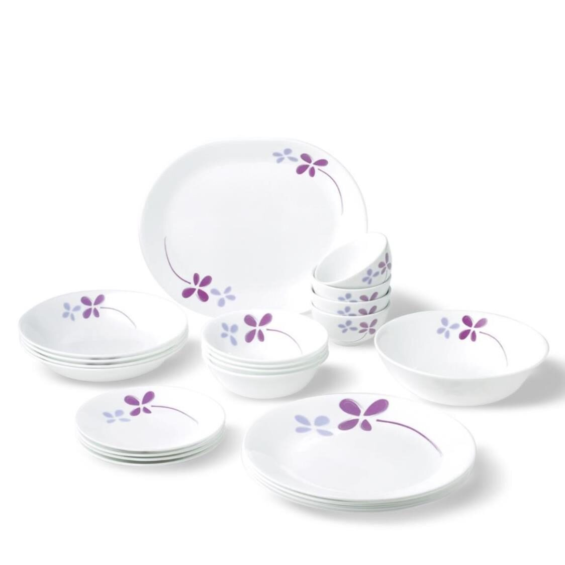 22pc Dinner Set Warm Pansies