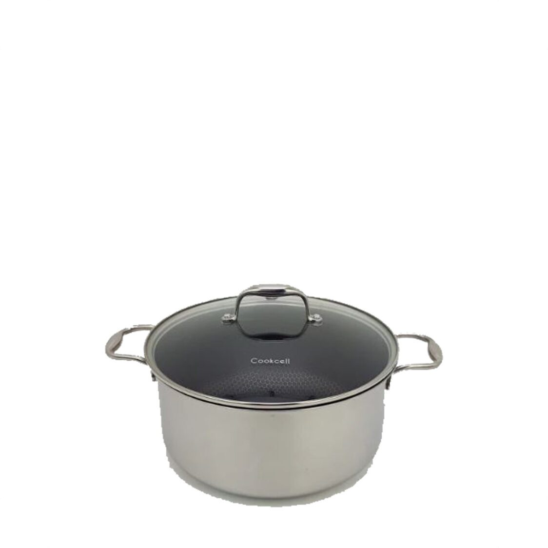 Cookcell Blackcube 24cm Stock Pot with Glass Lid