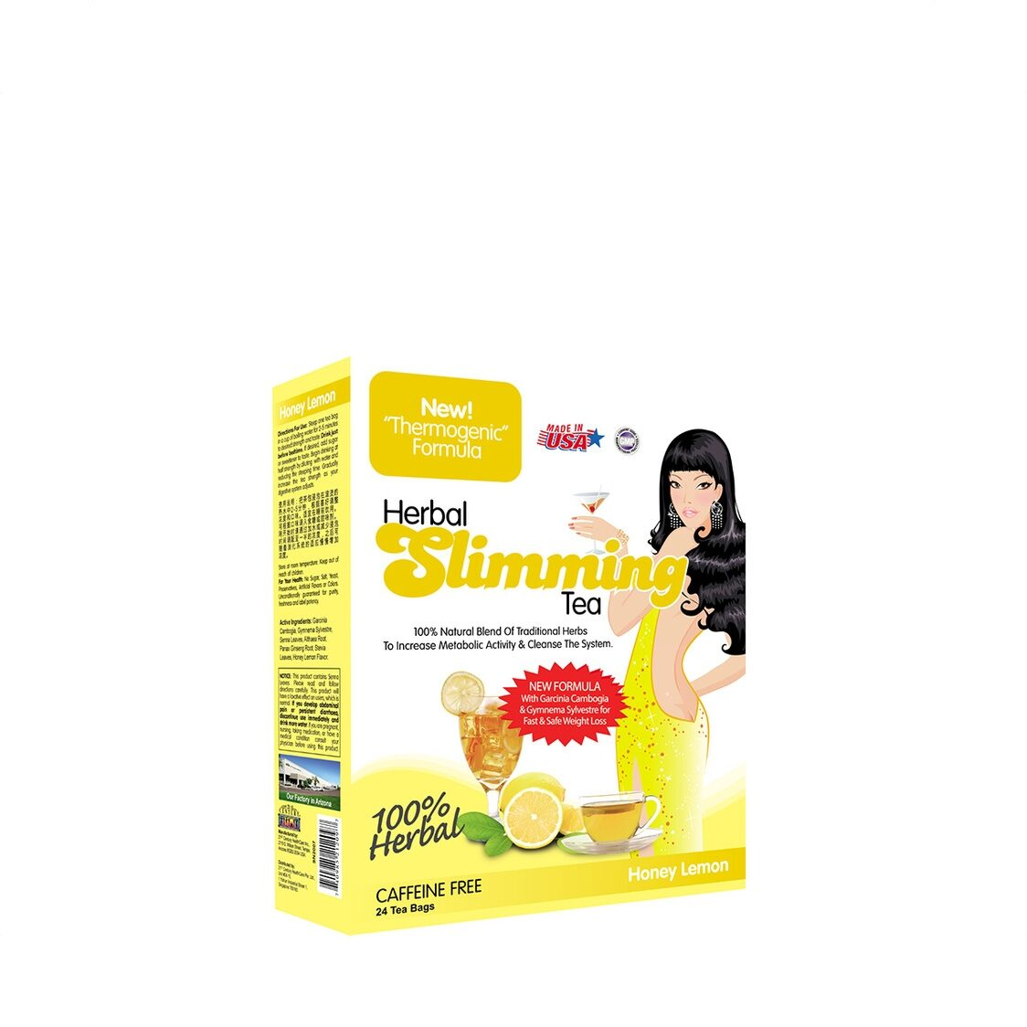 Herbal Slimming Tea - Honey Lemon 24 Tea Bags