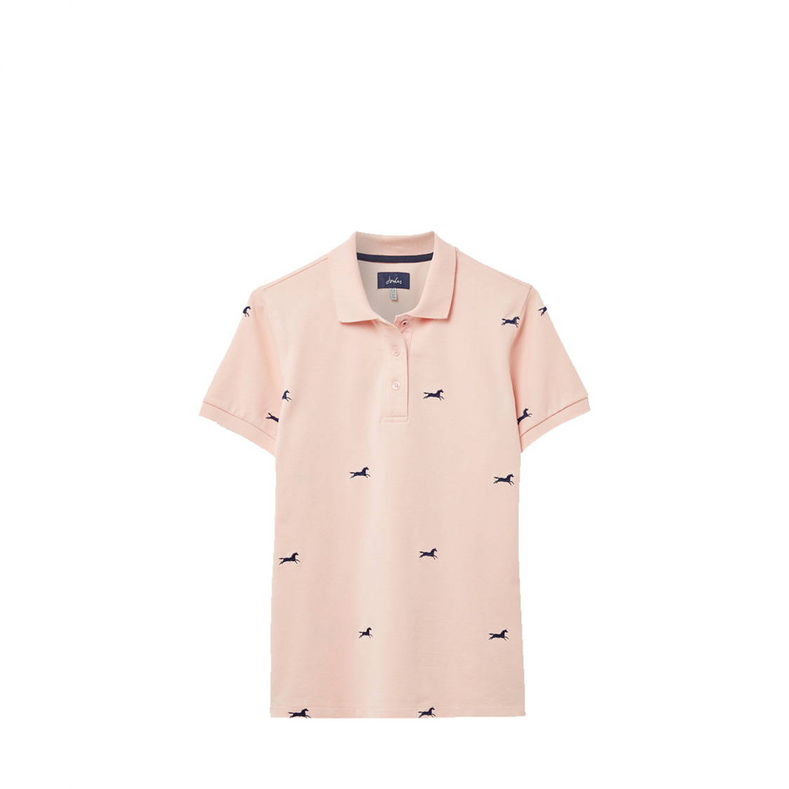 Tom Joule Pippa Printed Polo Shirt Pink Horse