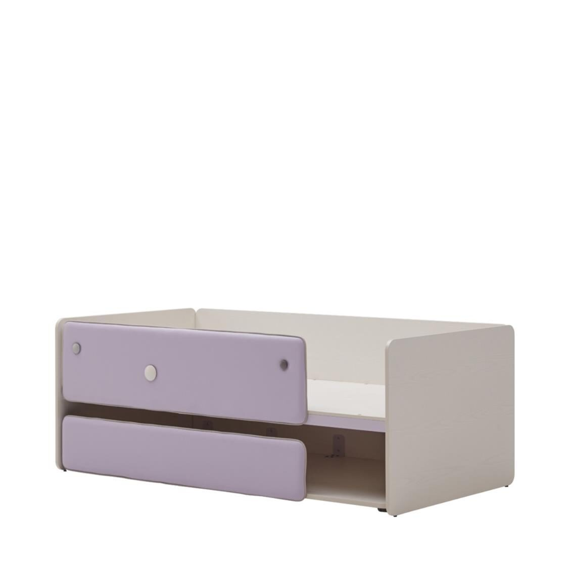 Cabin 1000W Sliding 2-story Bed FIVLU Finland Ivory Light Purple