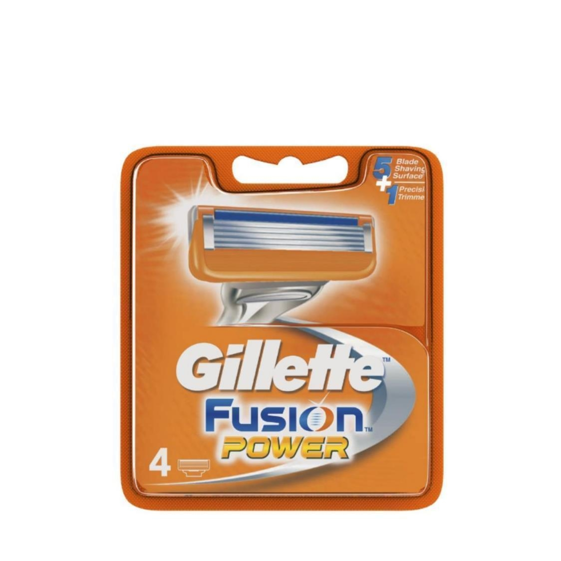 Fusion Power Mens Razor Blade Refills 4 Count