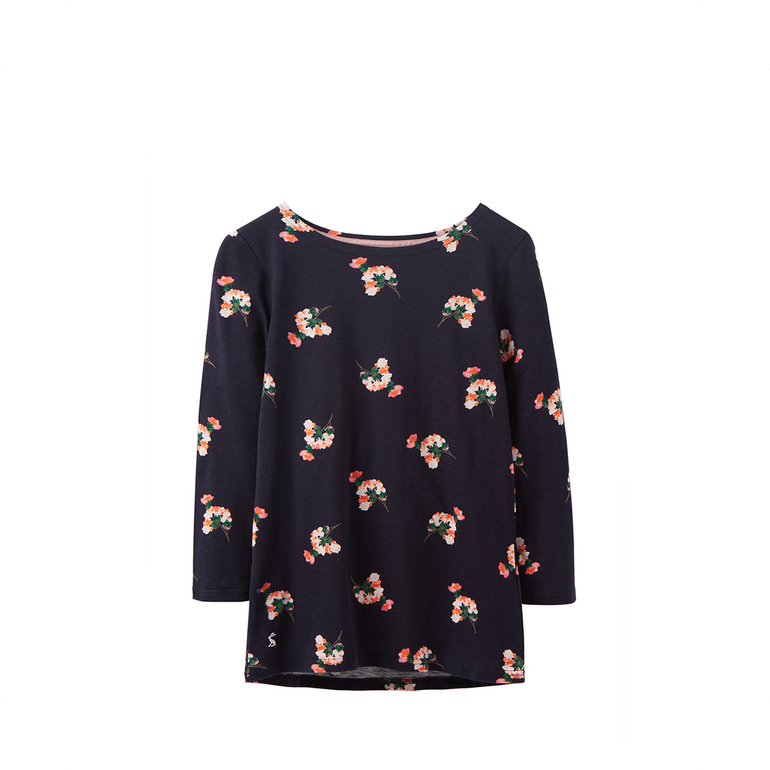 Tom Joule Harbour Light Printed Full Length Sleeve Jersey Top Navy Posy