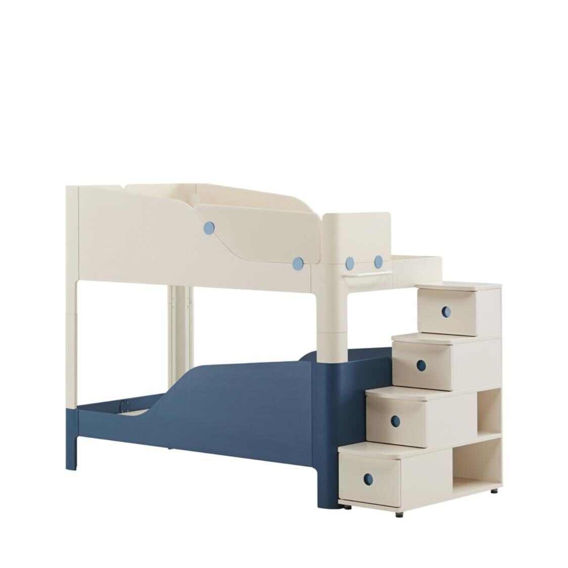 Tinkle Pop 2 Story Bed Stairs IVKB Ivory Blue