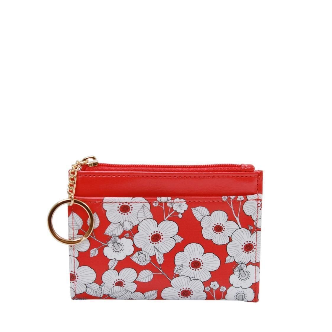 Willow Ver4 Keyring Card Wallet Red Flower