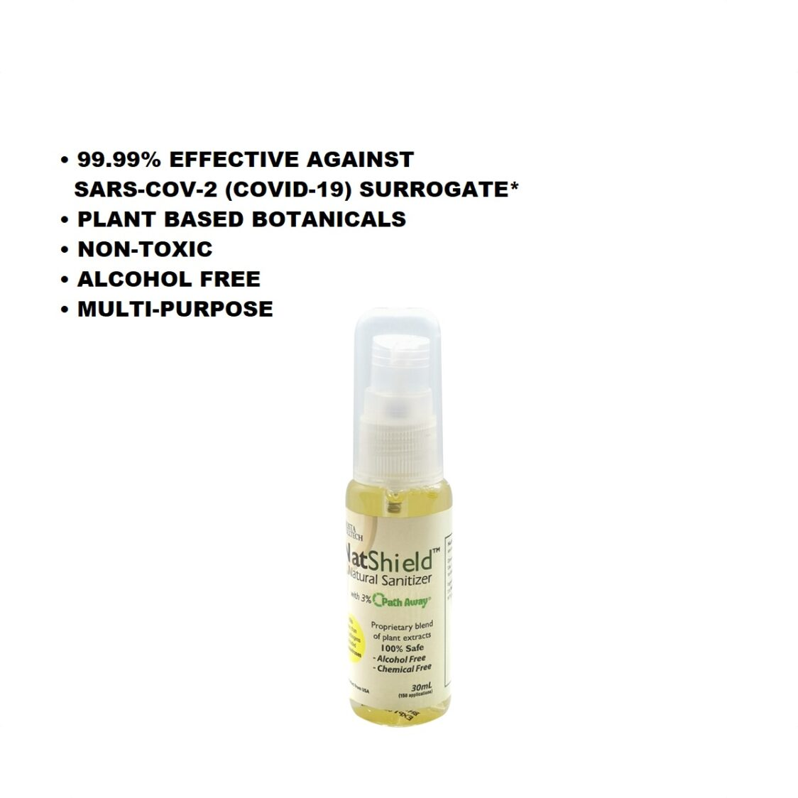 NatShield Natural Sanitizer with Path-Away 30ml