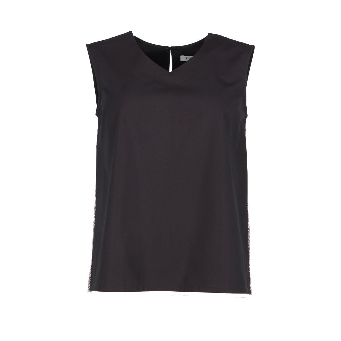 Ladies V-Neck Top With Back Pleated Details