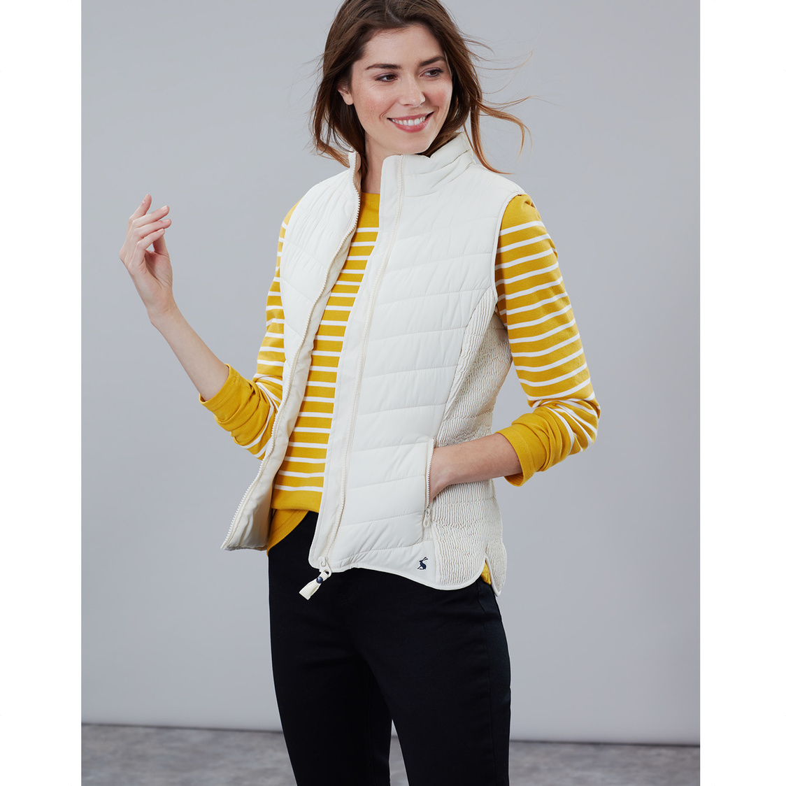 Fallow Padded Gilet With Funnel Neck Winter White