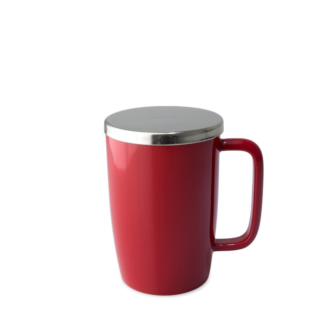Dew Brew-in-Mug w Infuser  Lid 532ml FL610-RED